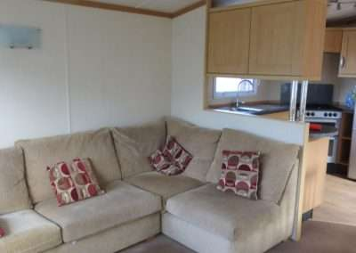 Mobile Home | Swift Moselle 37x12 - Living Room & Kitchen View 2